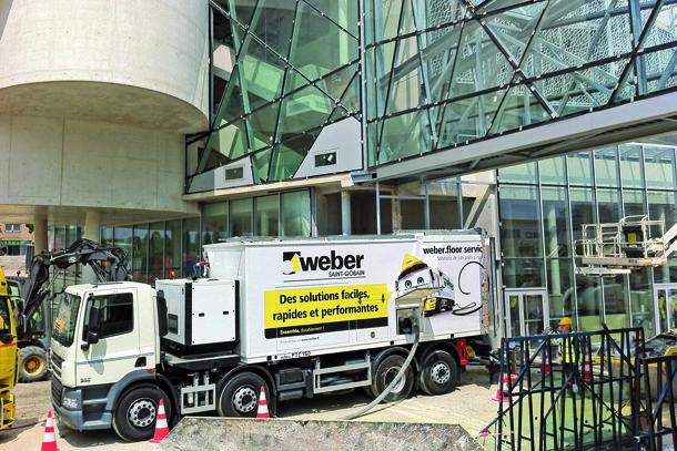 weberfloor service multiplie les avantages pour les chantiers...