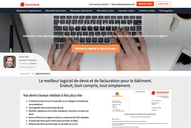 Travauxlib : Une start-up au service du BTP