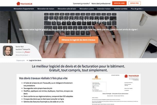Travauxlib : Une start-up au service du BTP