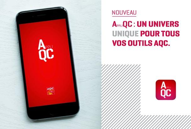 L'AQC lance l'Appli QC, disponible sur smartphones et tablettes. [©AQC]