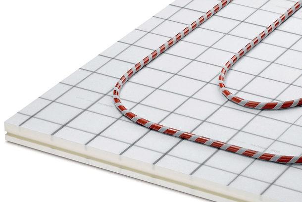 Système de planchers Rautherm Speed avec sa plaque Raupur Speed. [©Rehau]