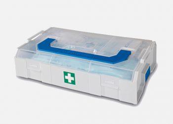 La Mini L-Boxx de Sortimo by Gruau, un nécessaire de premiers secours accessible facilement. [©Sortimo]