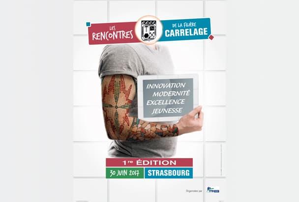 """L'Unecb inaugure la 1ère édition des """"Rencontres de la filière carrelage"""", à Strasbourg. [©Studio201]"""