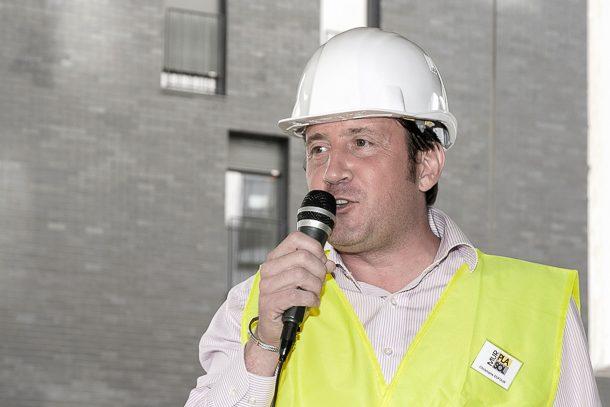 Ardent défenseur de la chape fluide, Christophe Dufour est le directeur commercial de l'entreprise Pla Mur Sol. [©C. Dufour]