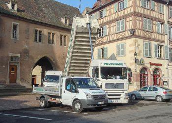 L'entreprise Polychape est le premier chapiste à avoir employé une centrale mobile en France. [©Polychape]