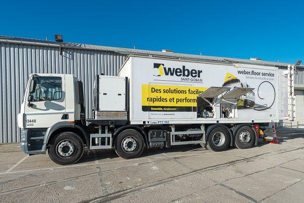 Production in situ grâce au Weber Truck