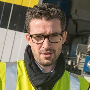 Matthieu Bellet, chargé d'affaires sols techniques, décoratifs & industriels de Saint-Gobain Weber. [©ACPresse]