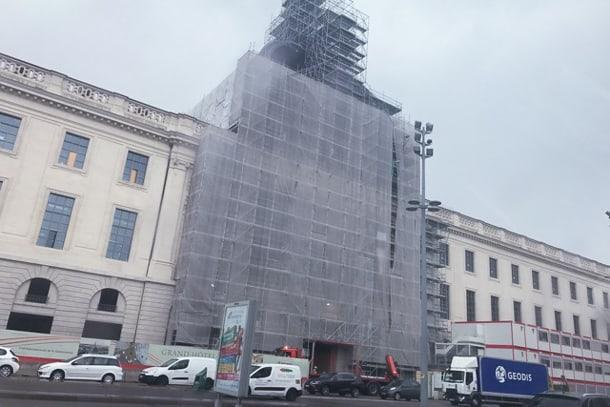 Le Grand Hôtel Dieu de Lyon ouvrira ses portes au public, pour une première tranche, fin 2017, après 43 mois de travaux. [©Chapes Concept]