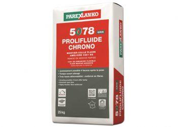 Le 5078 Prolifluide Chrono C2S EG de Parexlanko est un nouveau mortier-colle fluide fibré, utilisable dans les conditions extrêmes. [©Parexlanko]