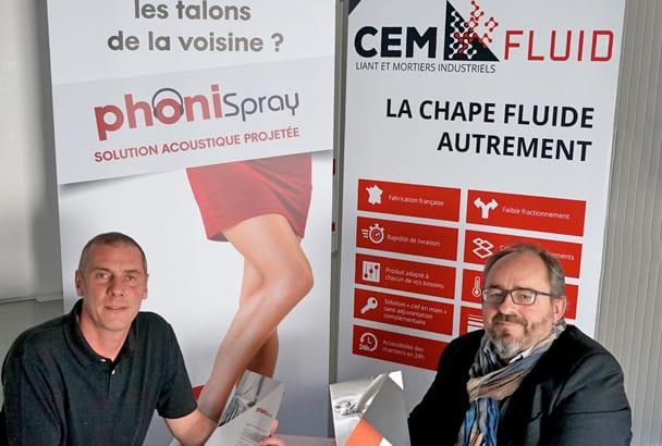 Olivier Lardet à droite, directeur d'activité de Cemfluid, et Rodolphe Bagot, ingénieur. [©Cemfluid]
