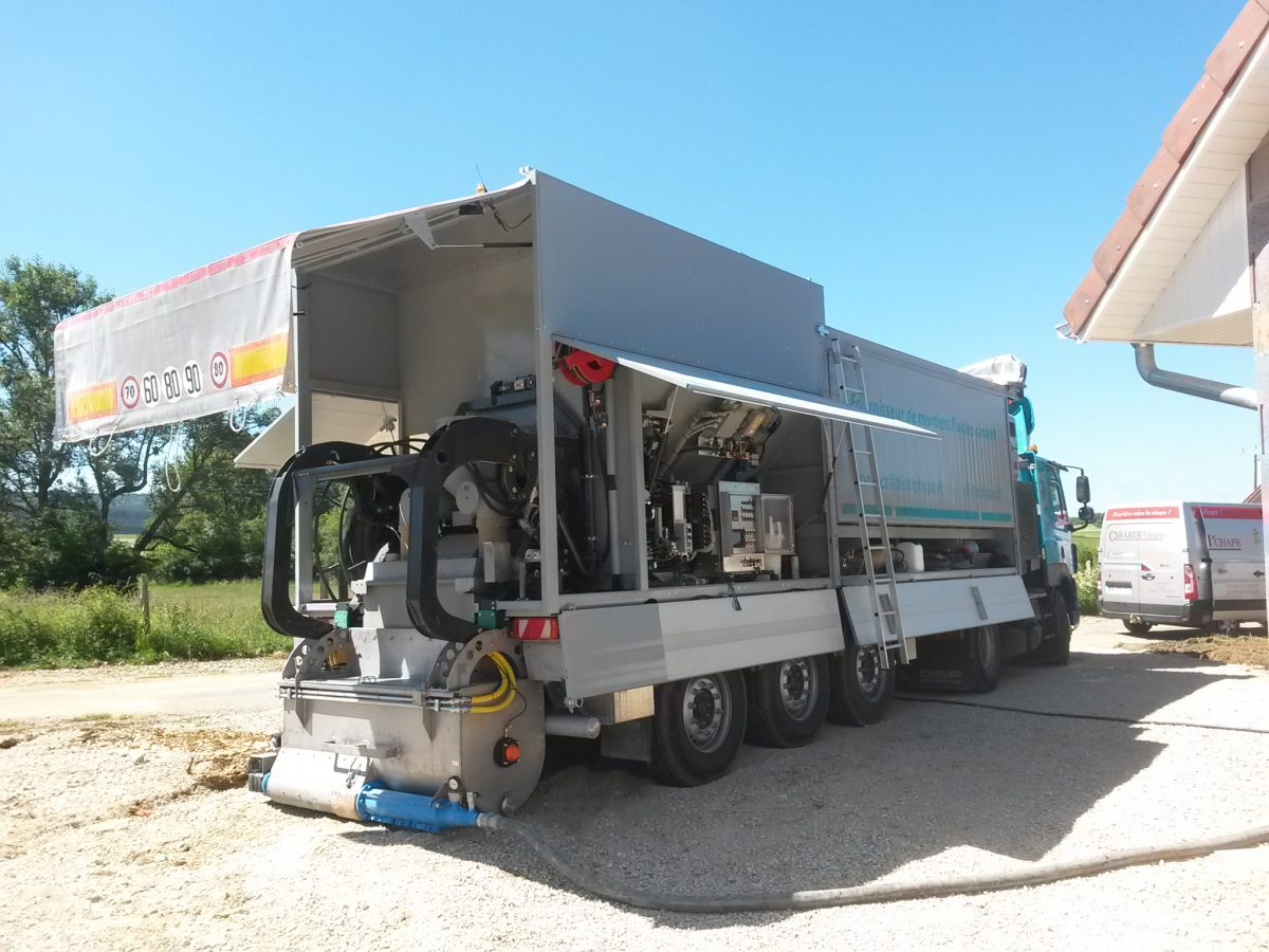 Centrales mobiles pour chapes fluides – Série ALS