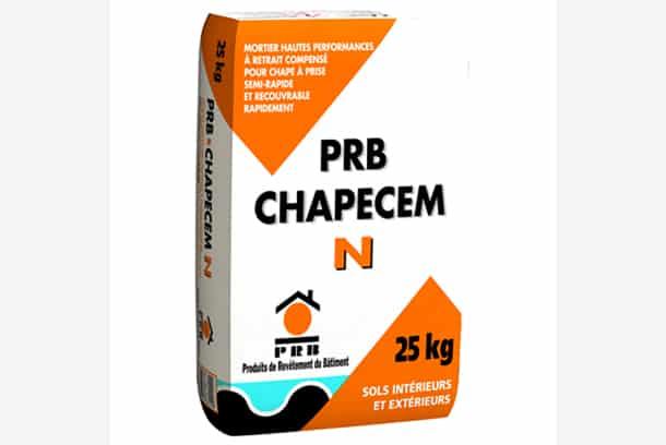 PRB CHAPECEM N, mortier pour chapes à prise semi-rapide