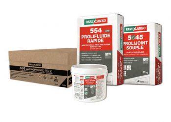 586 Lankophonic Plak + est proposé sous forme de kits de 15 m2 ou 60 m2. [©Parexlanko]