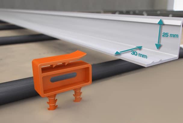 Principe de fonctionnement du joint de fractionnement Jamag PVC Classic et son clip breveté. [©La Boutique du chapiste]