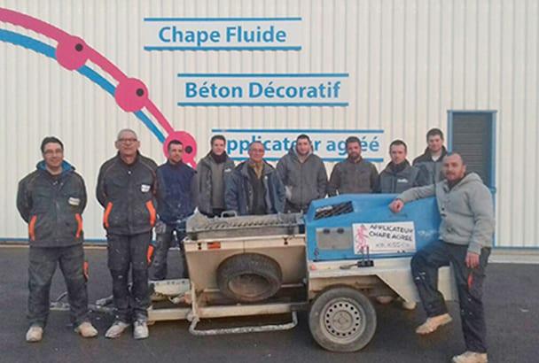 L'équipe de Chape L'Océane passée de 2 à 10 employés en 7 ans. [©Chape L'Océane]