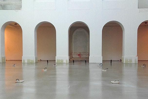 Quelque 1 000 m2 de chape fluide ciment ont été coulés en continu au musée d'art de Nantes. [©Chape L'Océane]
