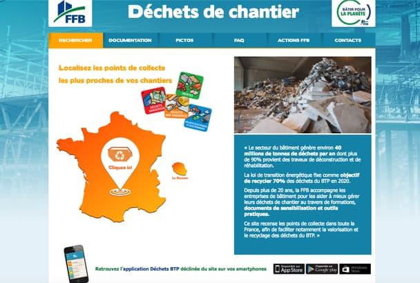 Lancé en 2004, le site Internet www.dechets-chantier.ffbatiment.fr a été mis à jour pour mieux répondre aux problématiques d'économie circulaire [©FFB]