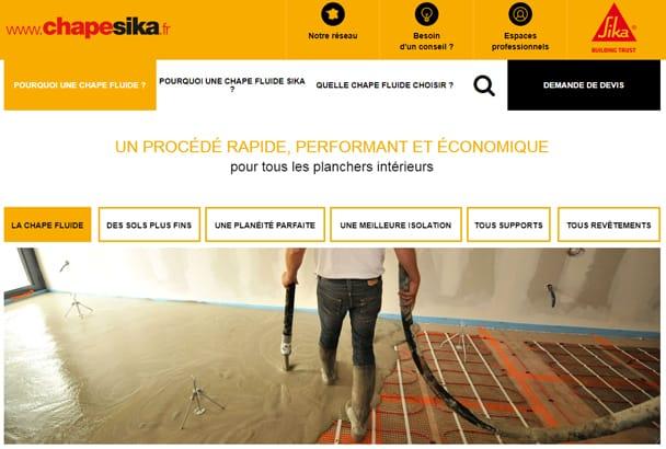 Sika remet un coup de neuf sur son site dédié à son offre chape [©Sika]