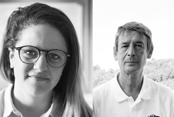 De gauche à droite : Johanna Dakhli, chargée de communication pour Technomac, et Philippe Bihan, commercial Nord-Ouest pour Technomac. [©Technomac]