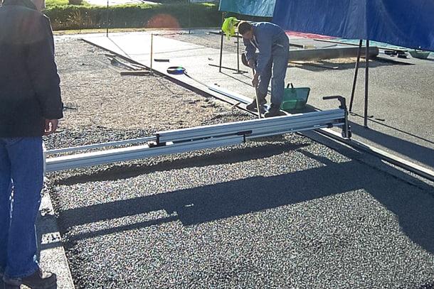 Maniables et de faible poids, les LOM de Lomar peuvent atteindre un rendement maximum de 120 m2/h. [©Technomac]