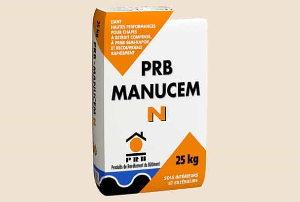 Le PRB Manucem N est une chape à retrait compensé hautes performances, recouvrable dès 24 h.