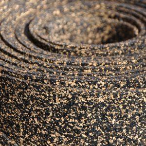 Le liège caoutchouc limite parfaitement la propagation des bruits solides.[©Easy-Liège]