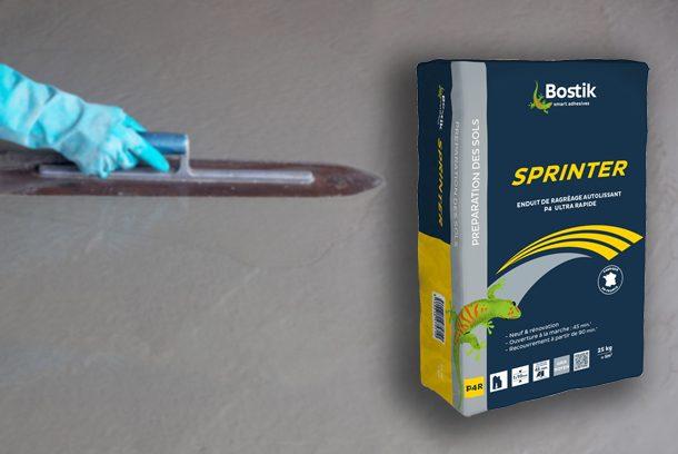 Le ragréage Sprinter de Bostik sera disponible dès le mois de septembre. [©Bostik]