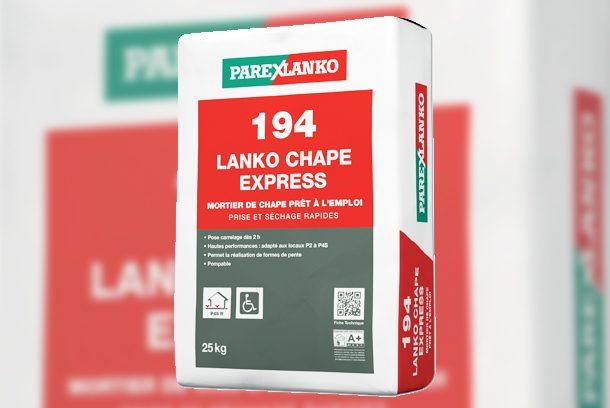 Parexlanko a lancé le nouveau mortier pour chape rapide 194 Lanko Chape Express [©Parexlanko]
