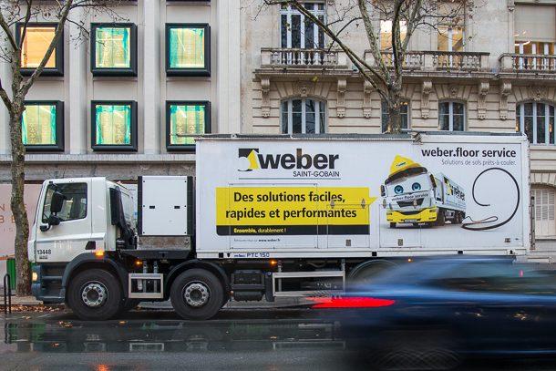 Saint-Gobain Weber vient de mettre en service son deuxième Weber Truck en France