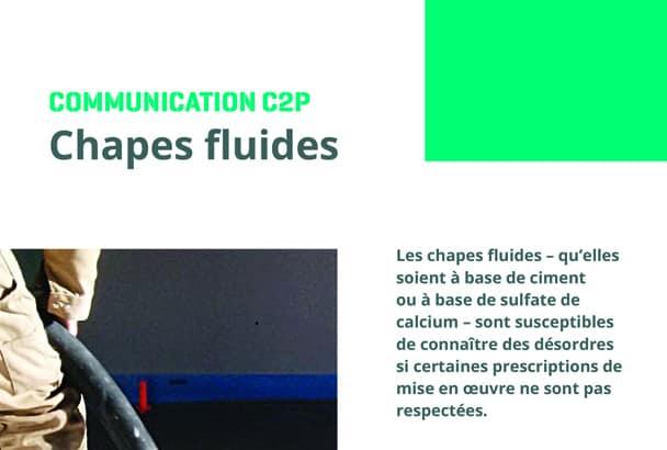 """L'AQC publie """"Les chapes fluides"""", qui décrit les principaux points de surveillance et prescriptions particulières de mise en œuvre. [©AQC]"""