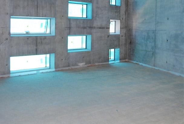 L'entreprise Pla sol mur s'est occupée de la mise en œuvre de la chape. [©Thermactif]