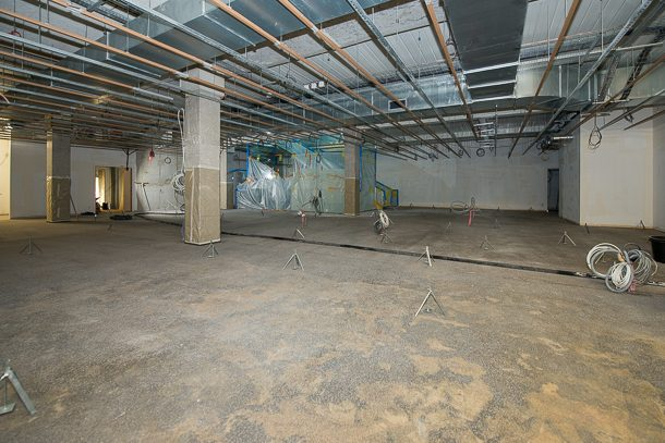 Le plancher bas du deuxième étage du musée de La Poste fait l'objet d'une remise à niveau. [©ACPresse]