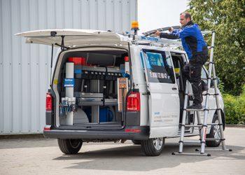 Le système SR5 de Sortimo by Gruau ménage un espace de travail optimisé dans le véhicule et sa conception légère permet de maximiser la charge utile. [©Sortimo by Gruau]