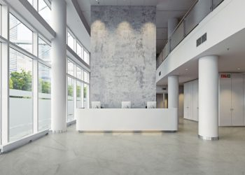 Le Sika Comfortfloor Marble FX permet d'offrir aux sols des aspects marbrés.
