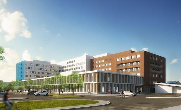 L'hôpital Fleyriat de Bourg-en-Bresse bénéficie d'une modernisation complète. [©Carta Associés]