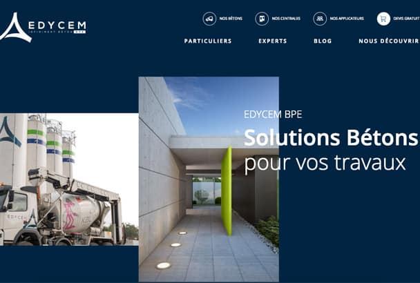 Edycem BPE présente son nouveau site Internet avec toute son offre : béton, chape, services… [©Edycem]