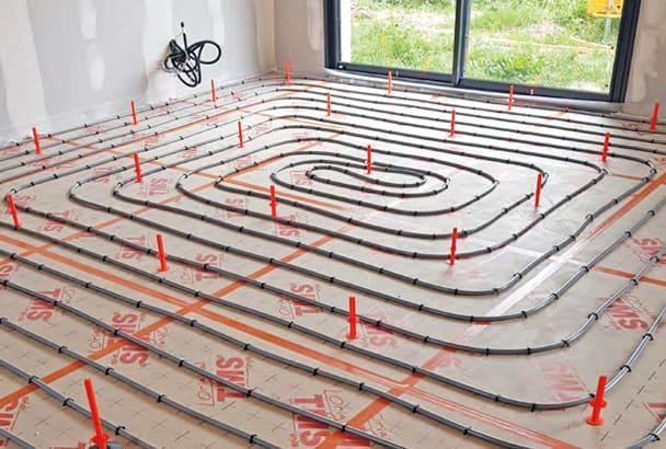 Carrelage grand format et plancher chauffant à eau basse température