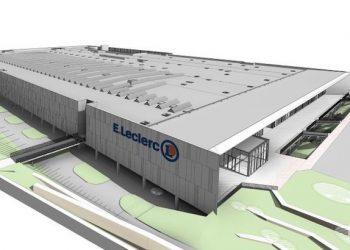Le nouveau Leclerc de Joué-Lès-Tours couvre une surface de 20 000 m2. [©LafargeHolcim]