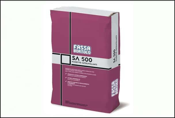 Fassa Bortolo propose sa chape autonivelante SA 500 avec ou sans fibres. [©Fassa Bortolo]