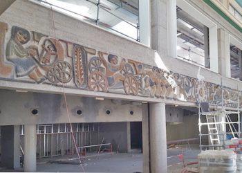 Le chantier de la Comédie reprend l'ancien site de la gare routière de Clermont-Ferrand. [©Technisol]