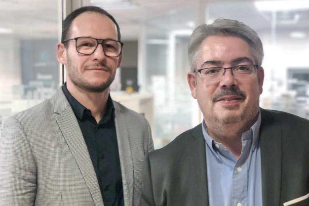 Axel Bermond, directeur commercial de Cemexa, et Marc Plançon, directeur adjoint de la BU Béton du groupe Chryso. [©Chryso]