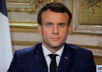 Emmanuel Macron lors de sa prise de parole télévisée. [©WikiCommons]