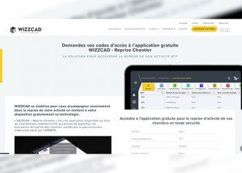 Wizzcad propose une application d'aide à la reprise des chantier en toute sécurité sanitaire. [©Wizzcad]