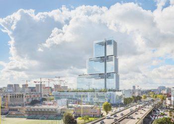 Le Tribunal de Grande Instance de Paris a nécessité a nécessité le coulage de chape au 8e étage. [©TGI]