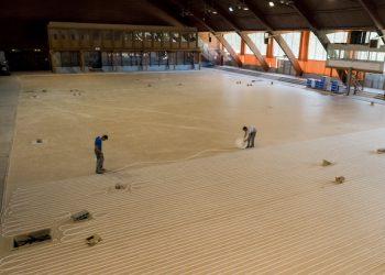 La Halle Clemenceau a accueilli les épreuves de patinage artistique lors des Jeux olympiques de Grenoble. [©Recticel]
