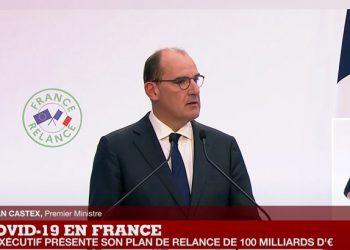 Jean Castex présente France Relance, le plan de relance économique. [DR]