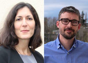Meriem Dussart, est directrice marketing, et Matthieu Bellet, responsable des gammes sols chez Saint Gobain Weber.