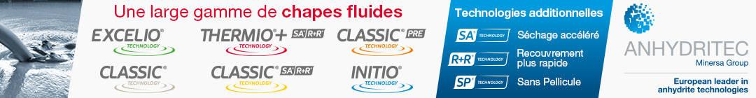 Publicité Anhydritec gamme de chapes fluides anhydrite