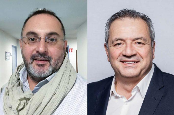 Yvon Fourment, directeur technique et prescription de Cemex France, et Jean-Marie Modica, Dg activités Matériaux Cemex France Sud.