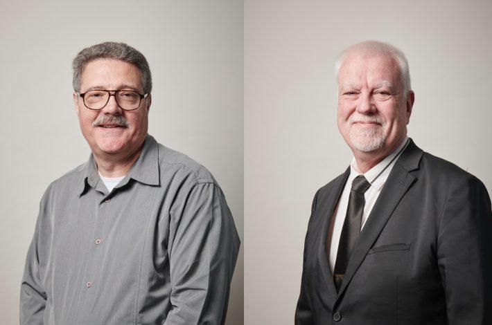 A droite, Giovanni Verrecchia, président de l'OPPBTP. A gauche, Jean-Marie Kerherno, vice-président. [©OPPBTP]